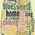 Sweet Home Alabama Map Typography by Florian Rodarte