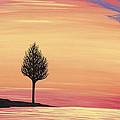 Sweet Raspberry Sunset by Melissa F Kaelin