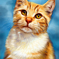 Sweet William Orange Tabby Cat Painting by Michelle Wrighton
