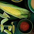 Sweetcorn And Limes by Romulo Yanes