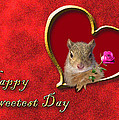 Sweetest Day Squirrel by Jeanette K