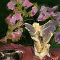 Sweetpeas And Silver by Maria Hunt