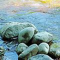 Swift River Rock Kancamagus Highway Nh by Lizi Beard-Ward