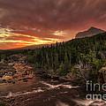Swiftcurrent River Sunrise by Mark Kiver