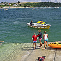 Swimmers On The Slipway - St Mawes by Rod Johnson