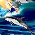 Swimming With Dolphins by Anthony Seeker
