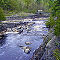Swing Bridge Over The River by Mark Hudon