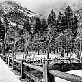 Swinging Bridge In Winter by Cat Connor