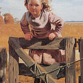Swinging On A Gate Detail by John Brown