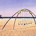Swingset On Beach by Melinda Fawver
