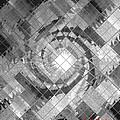 Swirl In A Checkered Mirror V by Gert J Rheeders