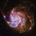 Swirling Red Galaxy by Jennifer Rondinelli Reilly - Fine Art Photography
