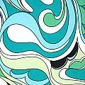 Swirls Blue Green by Bonnie Clark Weatherford