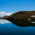 Swiss Alps - Schreckhorn Reflection by Anthony Doudt