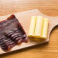 Swiss Food - Dried Meat And Cheese by Matthias Hauser