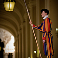 Swiss Guard In Uniform At St-peters by Guylain Doyle