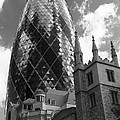 Swiss Re Tower In London by Chevy Fleet