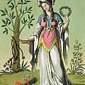 Sybil Of Delphi, No. 15 From Antique by Jacques Grasset de Saint-Sauveur