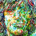 Syd Barrett - Watercolor Portrait by Fabrizio Cassetta