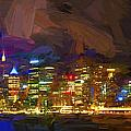 Sydney Harbour At Night by Sheila Smart Fine Art Photography