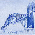 Sydney Harbour Bridge Blueprint by Kaleidoscopik Photography