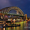 Sydney Harbour Bridge By Night by Kaye Menner