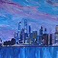 Sydney Skyline With Opera House At Dusk by M Bleichner