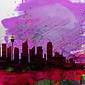 Sydney Watercolor Skyline 2 by Naxart Studio