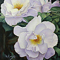 Sydneys Rose Oil Painting by Roena King