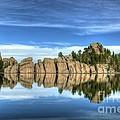Sylvan Lake Reflections by Mel Steinhauer