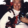 Sylver Short With Her Miniature Pinschers Christmas 2002-2008 by David Lee Guss