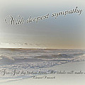 Sympathy Greeting Card - Ocean After Storm by Mother Nature