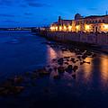 Syracuse Sicily Blue Hour - Ortygia Evening Mood by Georgia Mizuleva