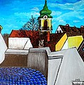 Szentendre - View From The Castlehill by Zsuzsa Doszkocs