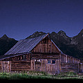 T. A. Moulton Homestead Barn At Night by Paul Cannon