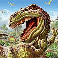 T-rex And Dinosaurs by MGL Meiklejohn Graphics Licensing