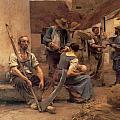 Ta Paye Des Moissonneurs by Leon Augustin Lhermitte