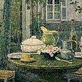 Table Laden For Spring by Henry Eugene Le Sidaner