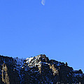 Table Mountain And Moon   #0562 by J L Woody Wooden