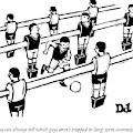 Table Soccer Players Look At One Unattached by Drew Dernavich
