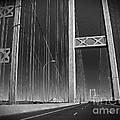 Tacoma Narrows Bridge B W by Connie Fox