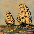 Taeping And Ariel, British Tea Clippers by Mary Evans Picture Library