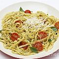 Tagliatelle With Pesto And Tomatoes by Paul Cowan