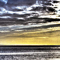Big Clouds Over Tagus River by Alexandre Martins