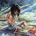 Tahitian Boy With Knife by Miki De Goodaboom
