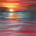 Tahitian Sunset by Lora Duguay