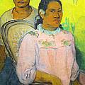 Tahitian Woman And Boy by Paul Gauguin