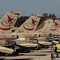 Tail Fins Of Israeli Air Force F-16`s by Timm Ziegenthaler
