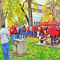 Tailgating Outside Of The Stadium. 2 by Digital Photographic Arts