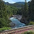Train Tracks By The Cheakamus River by Adam Jewell